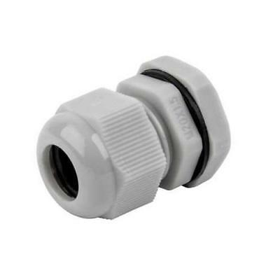 £5.90 • Buy 16mm Cable Compression Glands M16 Waterproof IP68 TRS Stuffing Gland  GREY