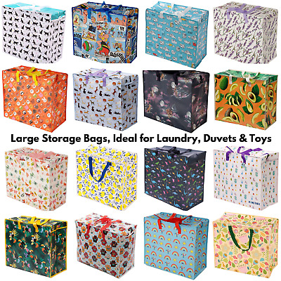 £5.50 • Buy Storage Laundry Shopping Bag Zip Handles Strong Extra Large Toys Quality Shopper