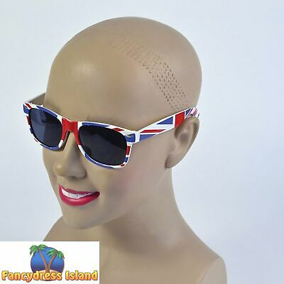 UNION JACK BRITISH JUBILEE SUNGLASSES - Mens Womens Ladies Fancy Dress Accessory • 3.39£