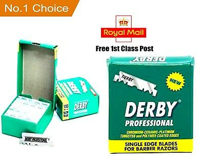 Derby Professional Premium |100 Single Edge Razor Blades | Pro Straight Edge • 3.99£