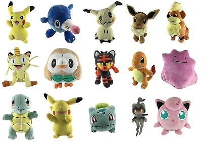 Official Pokemon Plush - Soft Toys -  Pikachu, Charmander, Squirtle, Eevee • 16.99£