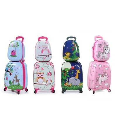 b0a8767f26 2Pc Carry On Luggage With Wheels Kids Rolling Suitcase Backpack Cute Travel  Set • 34.49