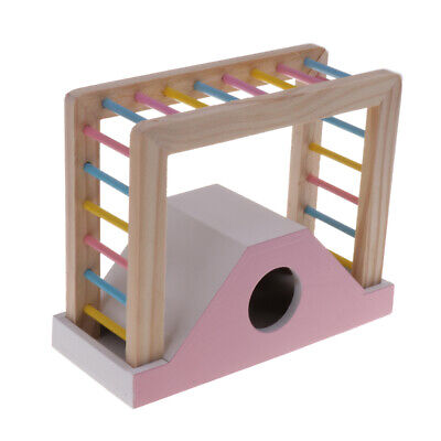 Pet Hamster Colorful Wooden Bridge Playing Ladder Exercise Toys Random • 4.84£