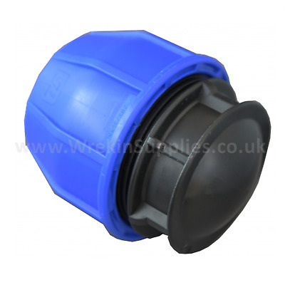 END CAP* MDPE Stop Plastic Compression Fitting Water Pipe WRAS Connector Poly • 35.85£