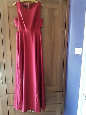 Ted Baker Liyee Cut-out Burgundy Dress Full Length Size 3 Good Condition • 130£