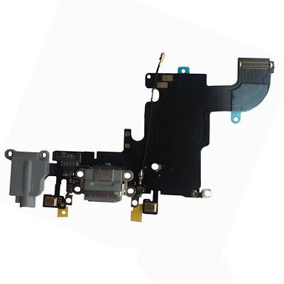 GREY Charging Block Port Dock Assembly Flex Cable For IPhone 6S 4.7  A1633 A1688 • 4.99£