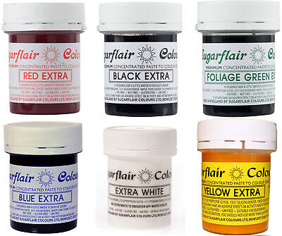 £6.46 • Buy Sugarflair Concentrated Food Colouring Paste Extra - 42g All Shades