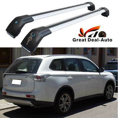 AU145 • Buy 2PCS Roof Rack Cross Bar For Mitsubishi Outlander ZJ ZK 2012-2020 To Flush Rail