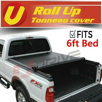 f68b88d4dfa Fits 2016-2019 TOYOTA TACOMA 6ft Bed Vinyl Smooth Roll Up Tonneau Cover •  122.22