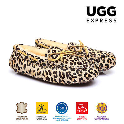 AU35 • Buy Ugg Ladies Australian Sheepskin Suede Safari Moccasin Ladies In Leopard Pattern