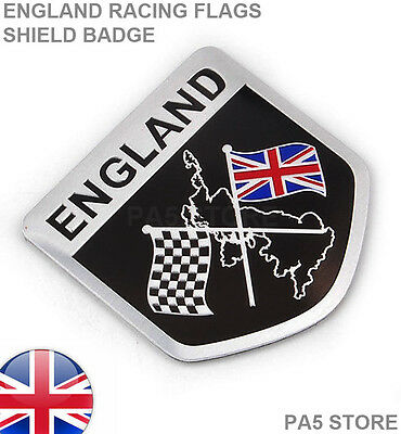 England Racing Flags Shield Badge Union Jack Car Van Emblem British Sport Turbo  • 3.99£