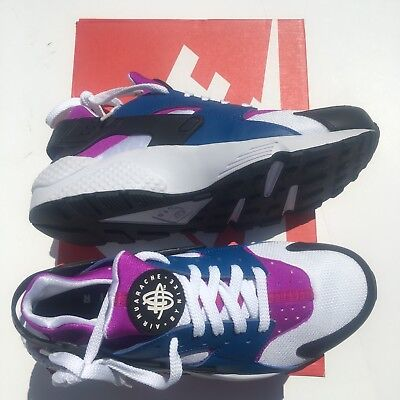 best website 1936d 4f255 NEW Nike Air Huarache Mens Shoes Size 9 Blue Jay White Hyper-Violet 318429-