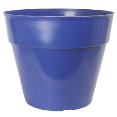 £9.49 • Buy Blue Large Plant Pots 26 Litre Tall Round Plastic Planters Outdoor Garden Tree