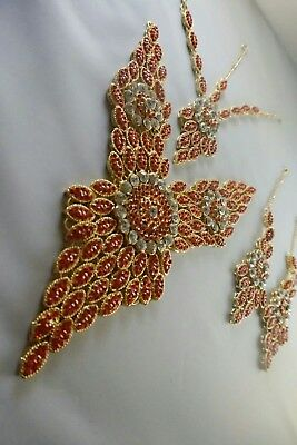 Genuine Indian/Pakistani Butterfly Bridal Set - Designer Jewellery Set.  • 45£