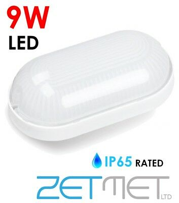 Robust Outdoor Security 9W LED Garden Wall Bulkhead Light Lamp Bulb IP65 Lantern • 10.75£