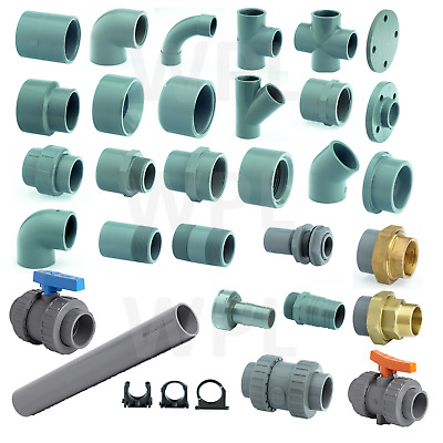 ABS SOLVENT WELD PIPE FITTING - 3/8  To 6  PRESSURE PLASTIC  INDUSTRIAL SWIMMING • 2.50£