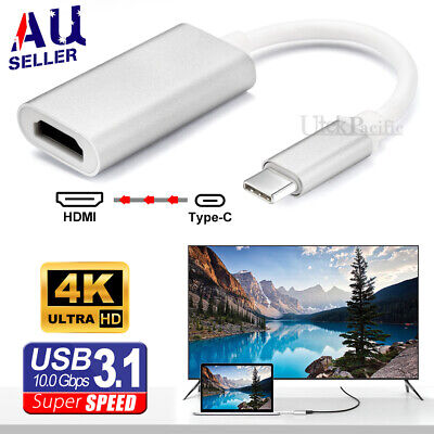 AU13.95 • Buy 4K 3.1 USB Type-C To HDMI Adapter Cable Converter For MacBook Samsung ChromeBook