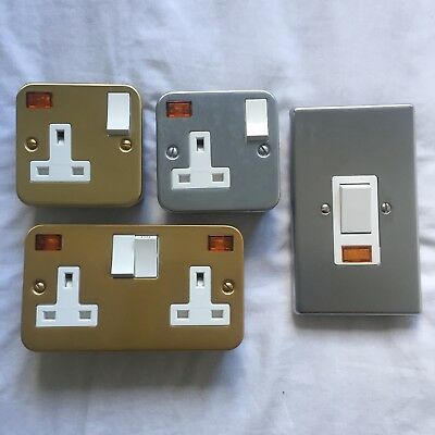 £19.99 • Buy Crabtree Classic Quality Genuine Sockets 2Gang 1Gang 50A DP Switch Cooker Shower
