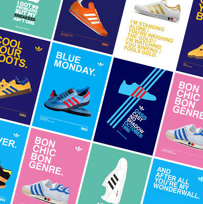 ADIDAS CASUALS CLASSIC TRAINERS POSTERS PRINTS - Oasis - Gallagher - Stone Roses • 7.49£