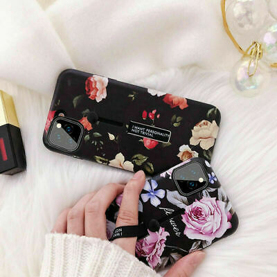AU5.69 • Buy For IPhone 11 Pro Max XR XS 8 7 6 Flower Ring Holder Kickstand Hybrid Case Cover