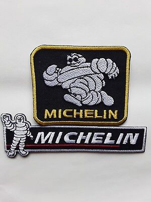 £4.49 • Buy Michelin Man Tyres Classic Motorsport Racing Car Embroidered Patch X2 Uk Seller