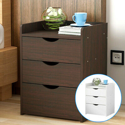 Modern Chest Of Drawers Bedside Table Cabinet Nightstand 3 Drawers Bedroom • 25.99£