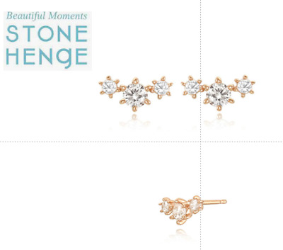 $ CDN120.24 • Buy StoneHenge Stone Henge Silver Earrings And Necklace Set SC0888 With Free Gift