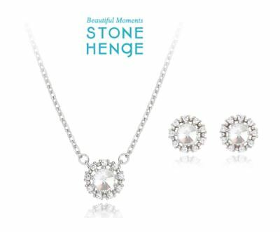 $ CDN95.95 • Buy StoneHenge Stone Henge Silver Earrings And Necklace Set SC0654 With Free Gift