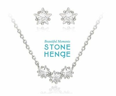 $ CDN132.39 • Buy StoneHenge Stone Henge Silver Earrings And Necklace Set SC0248 With Free Gift
