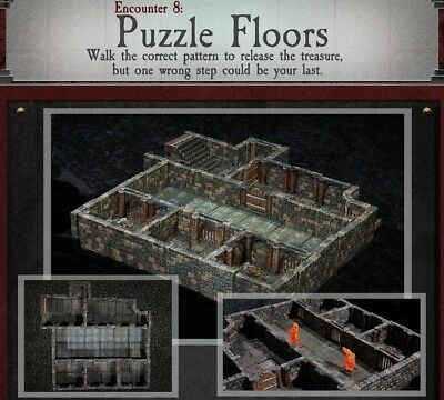 $ CDN329.03 • Buy Dwarven Forge PAINTED PUZZLE FLOORS Dungeons Of Doom W/Magnets - D&D Tiles NEW