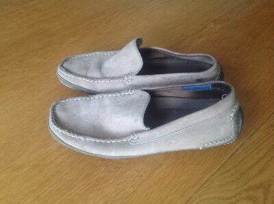 Rockport Driving Shoes Loafers Light Brown Suede Size Us 7 W • 7.99£