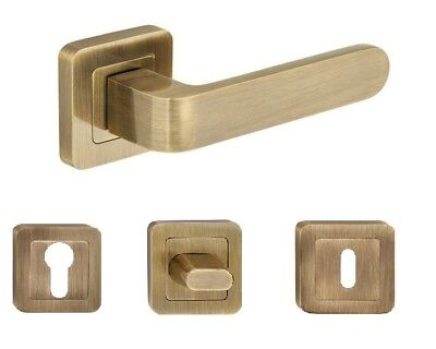 Internal Doors Handle Set , Square Face - RIO Antic Brass • 17£