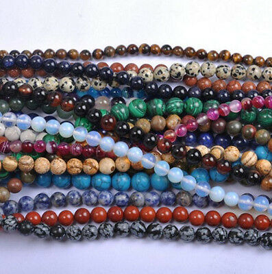 $ CDN3.41 • Buy Natural Bead Gemstone Round Loose Spacer Beads 15  4MM 6MM 8MM 10MM 12MM