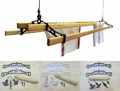 £29.95 • Buy 4 LATH Victorian Kitchen Ceiling Pulley Clothes Horse Airer Dryer Rack Laundry