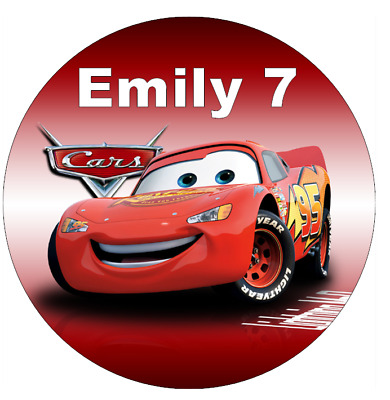 Cars Lightning Mcqueen Personalised Cupcake Toppers Edible Wafer Paper • 2.25£