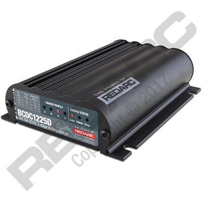 AU621.29 • Buy NEW Redarc Dual Input 25A In-vehicle DC Battery Charger BCDC1225D
