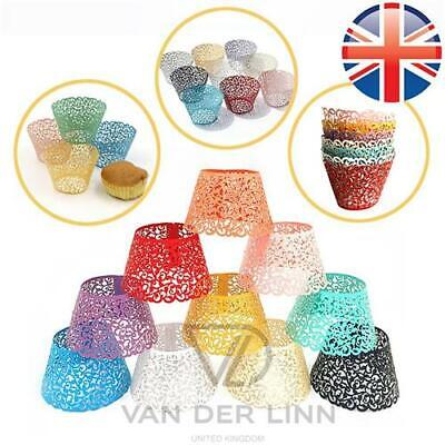£2.70 • Buy Filigree Cupcake Wrapper Cases Vine Lace Wedding Birthday Cupcake Wrapper Cases