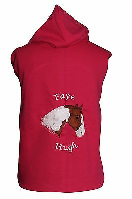 Personalised Embroidered Horse Pony Hoodie Piebald Skewbald Change The Colours • 18.99£