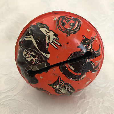 $ CDN53.29 • Buy Vintage Halloween US METAL TOY TIn Litho Rattler Wood Handle Witch Noisemaker