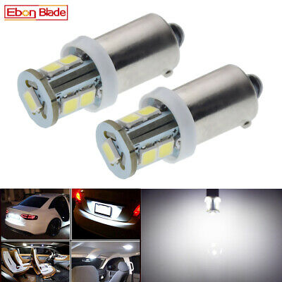 AU5.35 • Buy 2 X 6V DC BAX9S H6W 2835 SMD LED WHITE Interior Dome Map Side Maker Light Bulbs