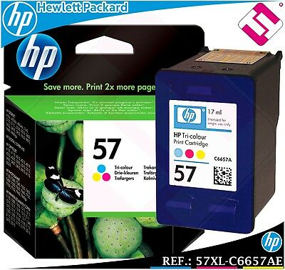 $58.38 • Buy Ink Tricolour 57 XL Original Printers HP Deskjet Officejet Pro Cartridge Colour