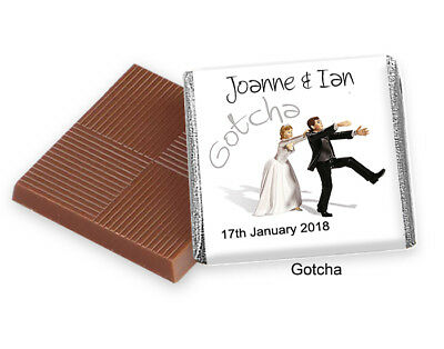 £9.75 • Buy 50 Personalised Chocolate Wedding Thank You Favours  100s Designs  And FREE POST