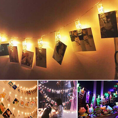 20 LED Hanging Picture Photo Peg Clip Fairy String Lights Party Decoration • 4.99£