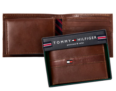 AU59.95 • Buy New Tommy Hilfiger Men's Ranger Leather Tan Passcase Bifold Billfold Wallet