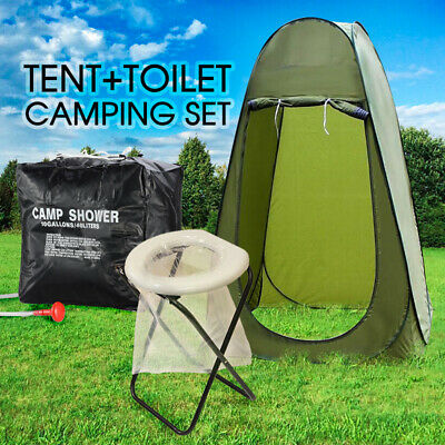 AU27.80 • Buy New Portable Pop Up Outdoor Camping Tent Toilet Shower Room W/ Zipped Window
