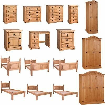 £135.95 • Buy Corona Chest Of Drawers Wardrobe Bed Mexican Solid Waxed Pine Bedroom Furniture