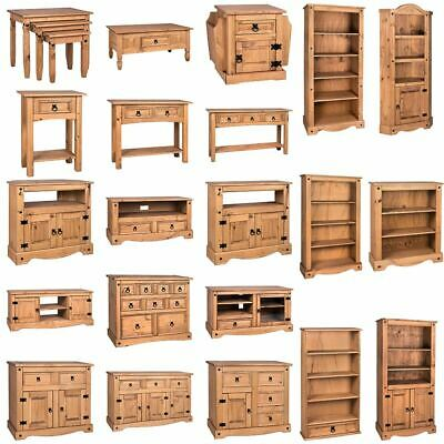 £62.95 • Buy Corona Bookcase TV Unit Table Mexican Solid Waxed Pine Living Room Furniture