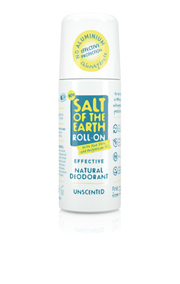 Crystal Spring Salt Of The Earth Natural Deodorant Roll-On UNSCENTED  (75ml) • 5.75£