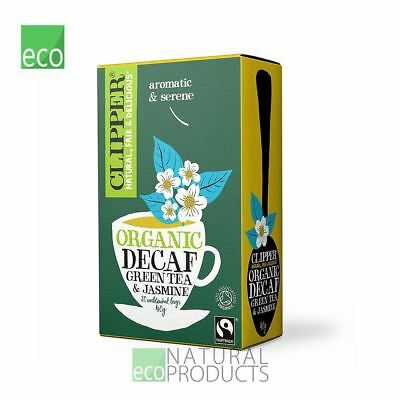 Clipper Natural Decaf Green Tea With Jasmine 20 Bags • 2.39£