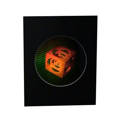 £14.38 • Buy 3D Cubes Within Cubes Hologram Picture MATTED, Collectible EMBOSSED Type Film